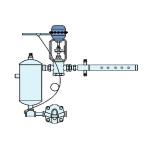 Hygromatik DDS - Tlakový parní zvlhčovací systém - s pneumatickým pohonem a jednou parní trubicí